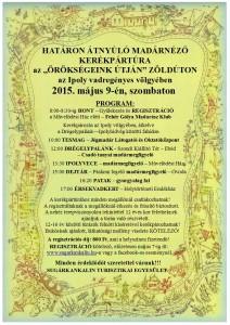PLAKÁT KERÉKPÁRTÚRA 2015